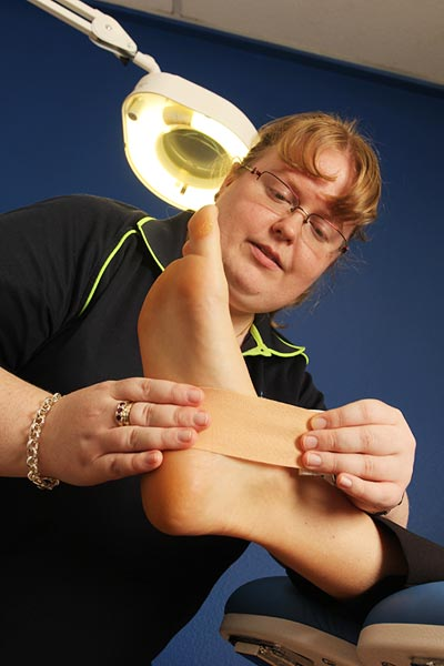Ankle Injuries and other sports injuries prevention - Taping - sport injury treatment Bundaberg