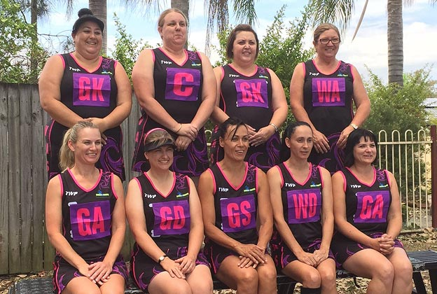 The Screaming Divas netball team who took part in the 2014 Pan Pacific Masters Games