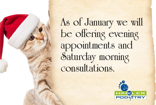 As of January we will be offering evening appointments and Saturday morning consultations.