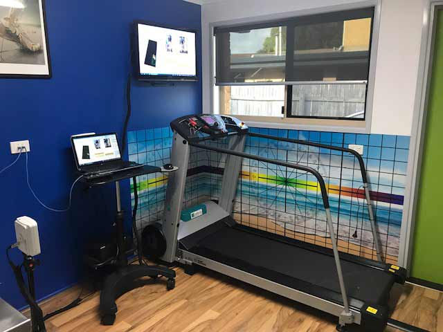 Picture of treadmill that monitors running technique